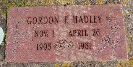 HADLEY, GORDON F - Polk County, Oregon | GORDON F HADLEY - Oregon Gravestone Photos