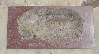 HAIGHT, EDNA ELIZABETH - Polk County, Oregon   EDNA ELIZABETH HAIGHT - Oregon Gravestone Photos