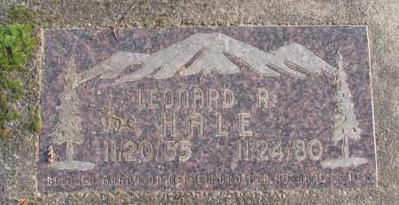HALE, LEONARD R - Polk County, Oregon | LEONARD R HALE - Oregon Gravestone Photos