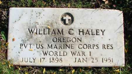 HALEY, WILLIAM C - Polk County, Oregon | WILLIAM C HALEY - Oregon Gravestone Photos