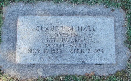 HALL, CLAUDE M - Polk County, Oregon | CLAUDE M HALL - Oregon Gravestone Photos