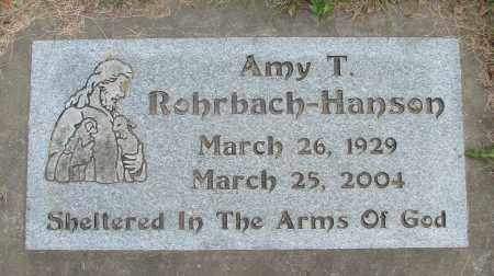 ROHRBACH HANSON, AMY T - Polk County, Oregon | AMY T ROHRBACH HANSON - Oregon Gravestone Photos
