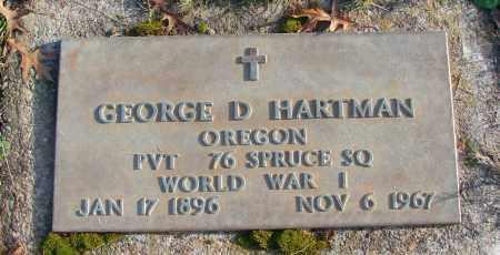 HARTMAN (WWI), GEORGE D - Polk County, Oregon | GEORGE D HARTMAN (WWI) - Oregon Gravestone Photos