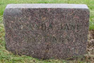 HASTINGS, AMANDA JANE - Polk County, Oregon | AMANDA JANE HASTINGS - Oregon Gravestone Photos