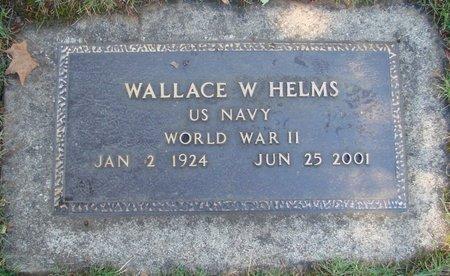 HELMS, WALLACE W - Polk County, Oregon   WALLACE W HELMS - Oregon Gravestone Photos