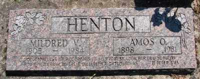 HENTON, AMOS OMAR - Polk County, Oregon | AMOS OMAR HENTON - Oregon Gravestone Photos