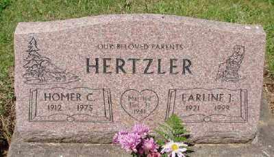 HERTZLER, EARLINE J - Polk County, Oregon | EARLINE J HERTZLER - Oregon Gravestone Photos