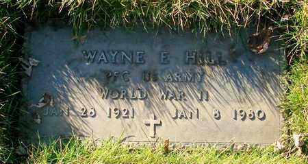 HILL, WAYNE E - Polk County, Oregon | WAYNE E HILL - Oregon Gravestone Photos