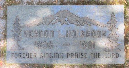 HOLBROOK, VERNON L - Polk County, Oregon | VERNON L HOLBROOK - Oregon Gravestone Photos