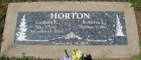 HORTON, ROBERTA J - Polk County, Oregon | ROBERTA J HORTON - Oregon Gravestone Photos