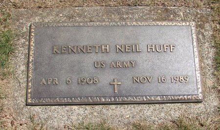 HUFF (SERV), KENNETH NEIL - Polk County, Oregon | KENNETH NEIL HUFF (SERV) - Oregon Gravestone Photos