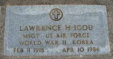 IGOU, LAWRENCE H - Polk County, Oregon   LAWRENCE H IGOU - Oregon Gravestone Photos