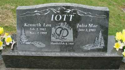 IOTT, JULIA MAE - Polk County, Oregon | JULIA MAE IOTT - Oregon Gravestone Photos