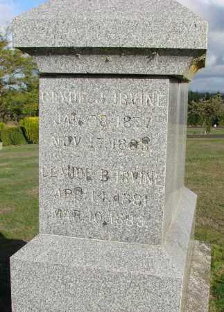 IRVINE, CLYDE J - Polk County, Oregon   CLYDE J IRVINE - Oregon Gravestone Photos