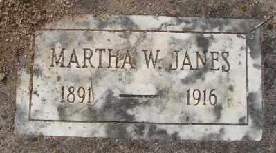 JANES, MARTHA W - Polk County, Oregon | MARTHA W JANES - Oregon Gravestone Photos
