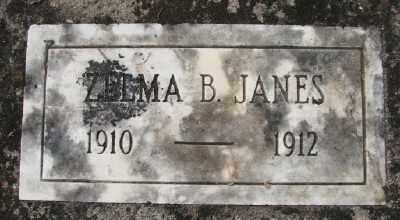 JANES, ZELMA B - Polk County, Oregon | ZELMA B JANES - Oregon Gravestone Photos