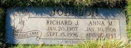 JOHNSON, RICHARD J - Polk County, Oregon | RICHARD J JOHNSON - Oregon Gravestone Photos