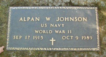 JOHNSON, ALPAN W - Polk County, Oregon | ALPAN W JOHNSON - Oregon Gravestone Photos