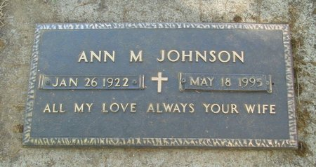 JOHNSON, ANN M - Polk County, Oregon | ANN M JOHNSON - Oregon Gravestone Photos