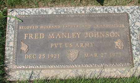 JOHNSON, FRED MANLEY - Polk County, Oregon | FRED MANLEY JOHNSON - Oregon Gravestone Photos