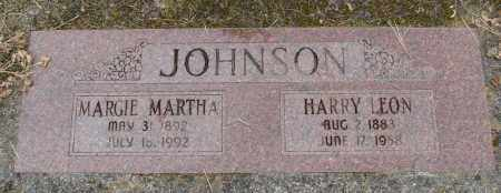JOHNSON, HARRY LEON - Polk County, Oregon | HARRY LEON JOHNSON - Oregon Gravestone Photos