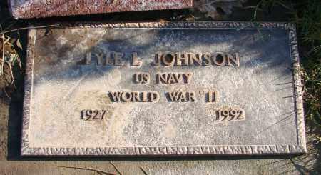 JOHNSON, LYLE L - Polk County, Oregon | LYLE L JOHNSON - Oregon Gravestone Photos