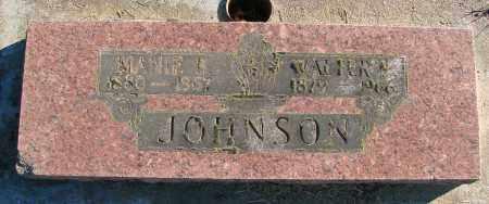 JOHNSON, WALTER - Polk County, Oregon | WALTER JOHNSON - Oregon Gravestone Photos