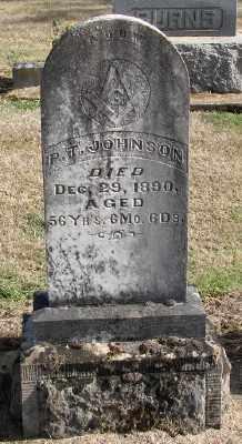 JOHNSON, P T - Polk County, Oregon   P T JOHNSON - Oregon Gravestone Photos