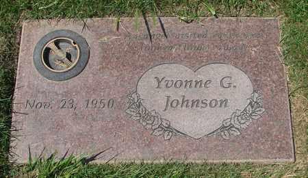 JOHNSON, YVONNE G - Polk County, Oregon | YVONNE G JOHNSON - Oregon Gravestone Photos