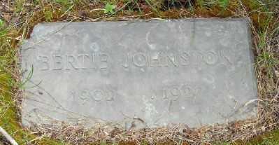 JOHNSTON, BERTIE - Polk County, Oregon | BERTIE JOHNSTON - Oregon Gravestone Photos