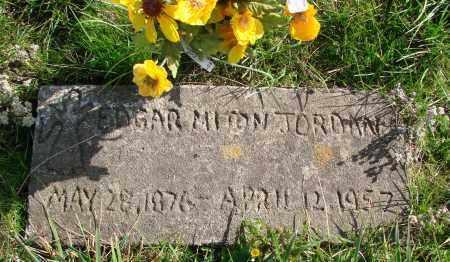 JORDAN, EDGAR MILTON - Polk County, Oregon | EDGAR MILTON JORDAN - Oregon Gravestone Photos