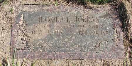 JORDAN, HAROLD L - Polk County, Oregon   HAROLD L JORDAN - Oregon Gravestone Photos