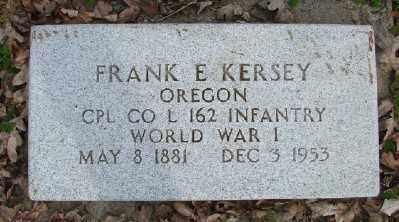 KERSEY, FRANK E - Polk County, Oregon | FRANK E KERSEY - Oregon Gravestone Photos