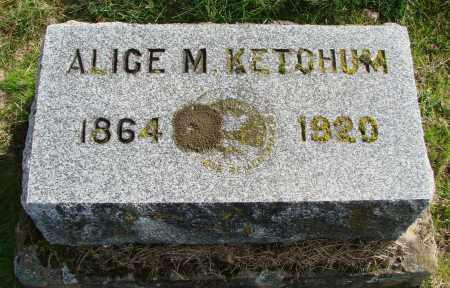 KETCHUM, ALICE M - Polk County, Oregon   ALICE M KETCHUM - Oregon Gravestone Photos