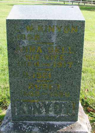BURGESS KINYON, ANNA BELL - Polk County, Oregon | ANNA BELL BURGESS KINYON - Oregon Gravestone Photos