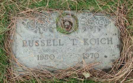 KOICH, RUSSELL T - Polk County, Oregon | RUSSELL T KOICH - Oregon Gravestone Photos