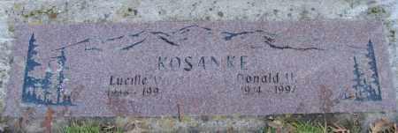 KOSANKE, DONALD H - Polk County, Oregon   DONALD H KOSANKE - Oregon Gravestone Photos