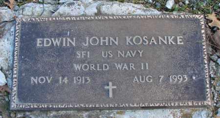 KOSANKE (WWII), EDWIN JOHN - Polk County, Oregon | EDWIN JOHN KOSANKE (WWII) - Oregon Gravestone Photos