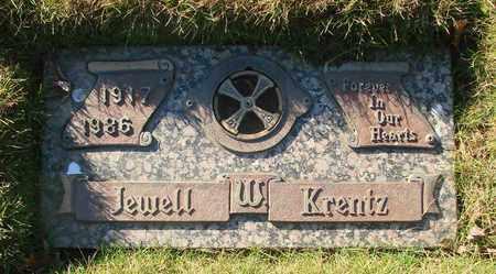 KRENTZ, JEWELL W - Polk County, Oregon | JEWELL W KRENTZ - Oregon Gravestone Photos