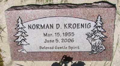 KROENIG, NORMAN D - Polk County, Oregon | NORMAN D KROENIG - Oregon Gravestone Photos