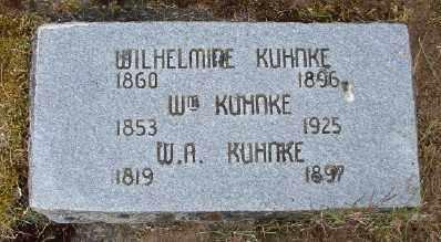 HOWE KUHNKE, WILHELMINE - Polk County, Oregon | WILHELMINE HOWE KUHNKE - Oregon Gravestone Photos
