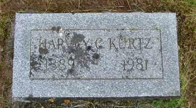 KURTZ, HARVEY C - Polk County, Oregon | HARVEY C KURTZ - Oregon Gravestone Photos