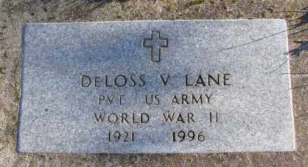 LANE (WWII), DELOSS V - Polk County, Oregon   DELOSS V LANE (WWII) - Oregon Gravestone Photos