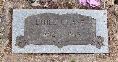 LANE, ETHEL I - Polk County, Oregon   ETHEL I LANE - Oregon Gravestone Photos