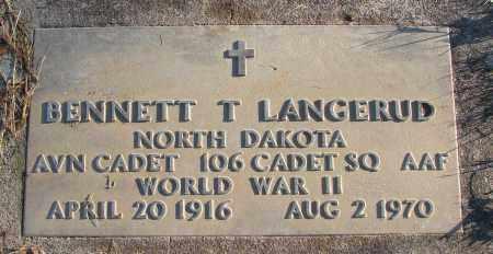 LANGERUD (WWII), BENNETT T - Polk County, Oregon   BENNETT T LANGERUD (WWII) - Oregon Gravestone Photos