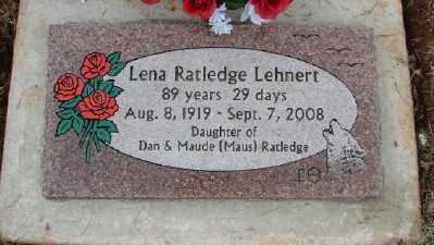 RATLEDGE, LENA - Polk County, Oregon | LENA RATLEDGE - Oregon Gravestone Photos