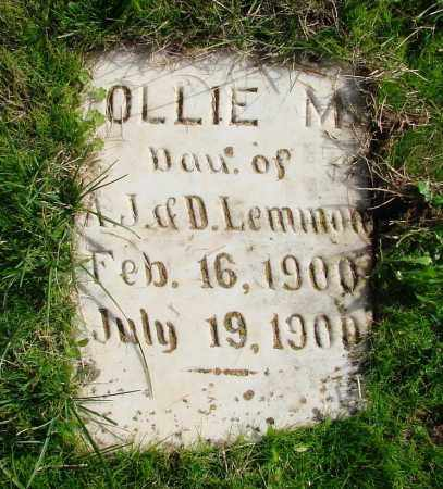 LEMMON, MOLLIE M - Polk County, Oregon | MOLLIE M LEMMON - Oregon Gravestone Photos