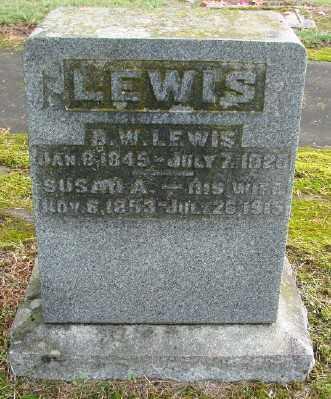 LEWIS, SUSAN A - Polk County, Oregon | SUSAN A LEWIS - Oregon Gravestone Photos