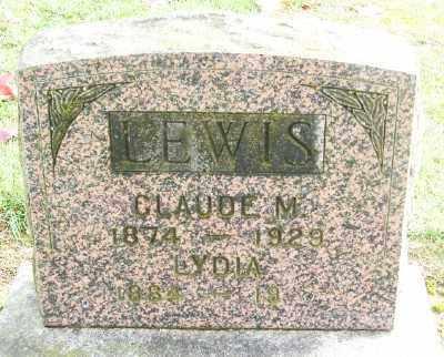 LEWIS, CLAUDE M - Polk County, Oregon   CLAUDE M LEWIS - Oregon Gravestone Photos