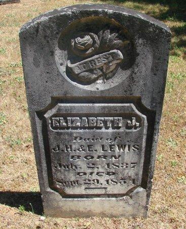 LEWIS, ELIZABETH J - Polk County, Oregon   ELIZABETH J LEWIS - Oregon Gravestone Photos